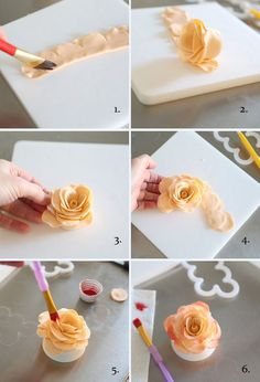 ▷ 1001 + ideas and instructions on how to decorate cakes Decorate the cake with fondant, make pink yourself, shape the blossom, red food color ▷ 1001 + Ideen und Anleitungen, wie Sie Torten verzieren 24 Source by Fondant Flower Tutorial, Fondant Flowers, Sugar Flowers, Cake Tutorial, Fondant Flower Cupcakes, Fondant Cupcake Toppers, Pink Cupcakes, Flower Cakes, Clay Flowers