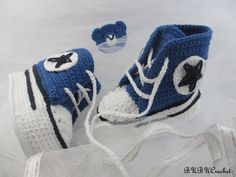 Sneakers Baby Converse Crochet, Crochet Baby Shoes, Crochet Baby Booties, Baby Boy Shoes, Blue Baby Booties, for baby 0-3 , 3-6 , 6-9 months by BUBUCrochet on Etsy