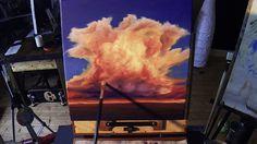 Cumulonimbus Sunset - Acrylic Painting Lesson - $14.99 #onselz