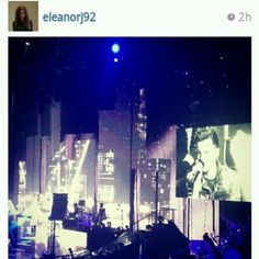 Eleanor posted this picture on Instagram during Louis' solo!(: awhhhh