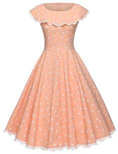 GownTown Vintage Polka Dot Retro Cocktail Prom Dresses 50s 60s Rockabilly Dresses * ** AMAZON BEST BUY ** #RetroFashion