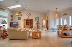 HDR Real Estate Photos by Expertise Photography  #Brevard #MLS #SpaceCoast #Florida #photography via http://pinterest.com/ExpertisePhoto #living #foyer #openfloorplan #skylights #vaulted ceilings