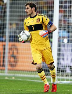 Iker Casillas Spain v Italy - UEFA EURO 2012 Final