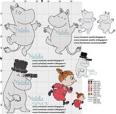 Knitting Charts Moomin New Ideas Knitting Charts, Knitting Patterns Free, Crochet Patterns, Cross Stitch Charts, Cross Stitch Patterns, Cross Stitching, Cross Stitch Embroidery, Les Moomins, Hama Beads Patterns