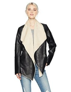 """Angie women's faux leather moto jacket with faux fur lining       Famous Words of Inspiration...""""The greater a man is in power above others, the more he ought to excel them in virtue. None ought to govern who is not better than the...  More details at https://jackets-lovers.bestselleroutlets.com/ladies-coats-jackets-vests/casual-jackets/product-review-for-angie-womens-fur-lined-drapey-front-faux-leather-jacket/"""