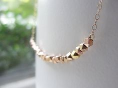 Rose gold necklace rose gold and gold necklace door OliveYewJewels