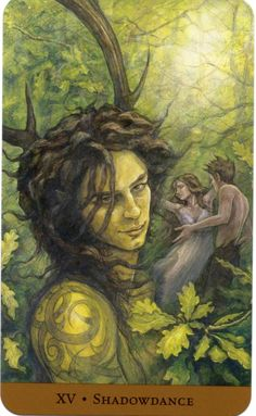 XV Shadowdance - Tarot of the Hidden Realm - The book is by Barbara Moore, the art is by Julia Jeffrey