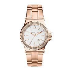 508ab8bb583b Michael Kors Women s MK5921 Jetset White Dial Rose Gold Bracelet Watch  Michael Kors Watch