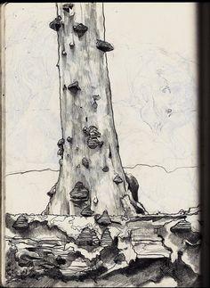 Sketchbook by Philipp Banken, via Behance