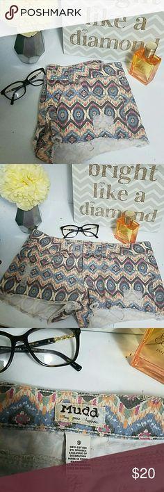 DISTRESSED MUDD SHORTS Ditch the jeans and show off some skin with these cute patterned shorts. ?? Mudd Shorts