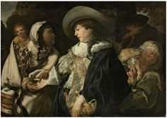 The Fortune Teller by Jan Cossiers (Flemish, 1600-1671)