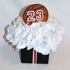 Attractive Baby Shower Centerpieces For Tables | Jordan Jumpman Inspired Baby Shower  Centerpieces   2   Designed