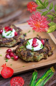 Zucchini Latkes are like little savory zucchini pancakes. Potato is mixed in to make them more filling.You can make mini ones for a party appetizer (or for kids) or larger ones for a dinner entree.