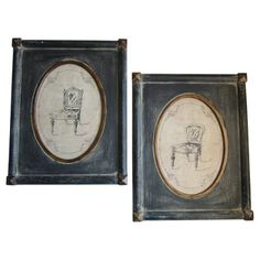 Check out this item at One Kings Lane! French Louis Chair Framed Prints, S/2