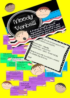 Power point to teach indicative, imperative, and subjunctive mood - verbs.  Includes two quizzes and keys!!!!