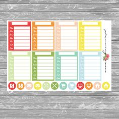 Blank Stackable Sidebar Stickers 1  20 Planner by PlanningRoses
