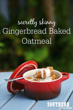 This Single Serve Gingerbread Baked Oatmeal Recipe is the PERFECT healthy Christmas breakfast or brunch recipe and so easy to make! These baked oats are also low fat, gluten free, vegan and taste seriously decadent!