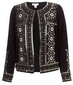 Monsoon Arab Fashion, Muslim Fashion, Boho Fashion, Kurti With Jacket, Blazers, Stylish Girls Photos, Embroidered Jacket, Indian Designer Wear, Indian Wear