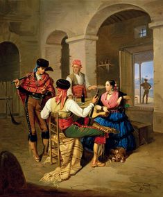 Manuel Cabral Aguado Bejarano. Escena en una venta, 1855. Colección Carmen Thyssen-Bornemisza en préstamo gratuito al Museo Carmen Thyssen Málaga
