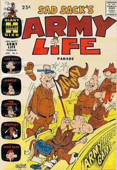 Sad Sack Cartoon | Sad Sack's Army Life #4 Comic Books - Covers, Scans, Photos in Sad ...