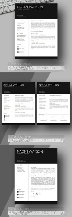 Modern Male Resume Template Cover Letter Two Page Use with - microsoft word resumes