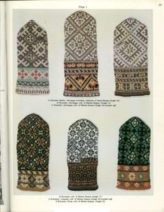 Latvian mittens - i want this book ! Knitting Charts, Knitting Stitches, Hand Knitting, Knitting Patterns, Mittens Pattern, Knit Mittens, Knitted Gloves, Knitting Designs, Knitting Projects
