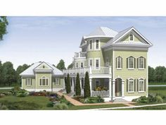 Cottage Style 3 story 3 bedrooms(s) House Plan with 4246 total square feet and 4 Full Bathroom(s) from Dream Home Source House Plans