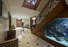 My house will have a fish tank wall, no matter.   Dream House   Pinterest   Fish tank wall, Fish ...