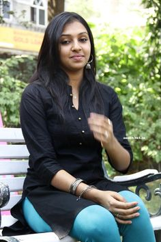 A South Indian Film Actress and Singer Lakshmi Menon Celebrating His Birthday. Chennai Ungal Kaiyil Wishing You a Happy Birthday! Indian Film Actress, South Indian Actress, Beautiful Indian Actress, Indian Actresses, Indian Long Hair Braid, Braids For Long Hair, Black Kurti, Lakshmi Menon, Casual Work Attire