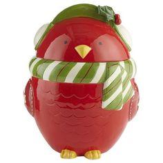 Red Bird Cookie Jar