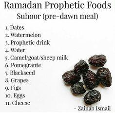 ramadan prophetic foods dates watermelon milk grapes figs blackseeds eggs cheese life healthy nutritionist zainabejaz Ramadan Tips, Ramadan Day, Islam Ramadan, Ramadan Mubarak, Ramadan Photos, Allah Islam, Islam Muslim, Islam Quran, Islam Hadith