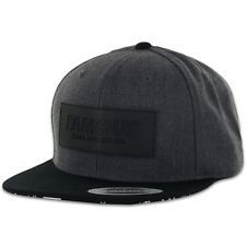 f121fc9bfa5ec Famous Stars   Straps EMBOXED LOGO CH-BK Strapback Black Charcoal Mens Hat  Cap Famous