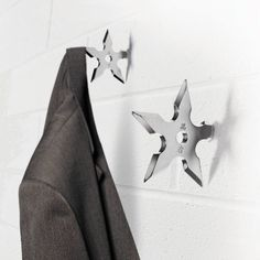 Must-haves! Ninja Star Coat Hangers available here for just $7.75!