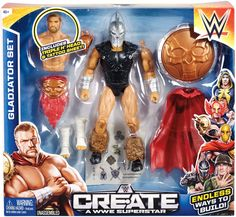 Triple H (Barbarian) - WWE Create-A-Superstar Large Pack WWE Toy Wrestling Action Figure