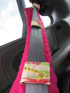 Seat Belt Pillow with pocket - DESIGN YOUR OWN - Made To Order. $27.00, via Etsy.
