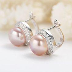 Forever 925 sterling silver freshwater pearl stud earrings