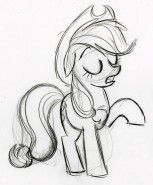 my little pony sketching by lauren faust