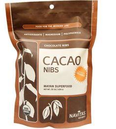 Raw Organic Cacao Nibs 16 oz (454 g) Cocoa Antioxidant Flavonoid Free Shipping #nativasnaturals
