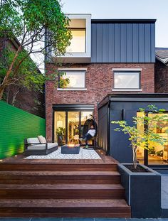 Simple and Impressive Tricks Can Change Your Life: Contemporary Garden Pond contemporary farmhouse architecture.Contemporary Painting On Canvas. Brick Facade, Facade House, Red Brick Exteriors, Contemporary Architecture, Architecture Design, Contemporary Decor, Contemporary Cottage, Contemporary Apartment, Toronto Architecture