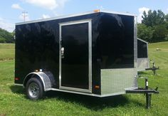 """2014 ENCLOSED 6x10 V-NOSE CARGO TRAILER 6' 3"""" INTERIOR- CRANK JACK 2"""" COUPLER, LED REAR TAIL LIGHTS 36"""" SIDE DOOR, SCREWED EXTERIOR ALUM. METAL' ¾"""" PLYWOOD FLOOR , 3/8"""" PLYWOOD WALLS 12 VT. DOME LIGHT, ALUMINUM JEEP FENDERS, ROOF VENT , STONE GUARD 3500# DROP LEAF SPRING AXLE, E-Z LUBE HUBS   $2250  615-483-7397  0% for 6 month financing $0 down Jeep Fenders, Jack 2, Plywood Walls, Roof Vents, Cargo Trailers, Leaf Spring, Side Door, Tail Light, Exterior"""