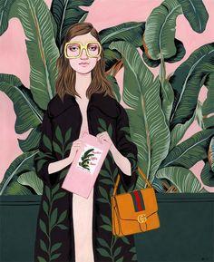 Bijou Karman - Gucci plants on pink