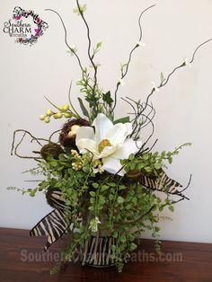 silk flower arrangement with burlap covered jar and burlap zebra print ribbon Faux Flowers, Silk Flowers, Spring Flowers, Dried Flowers, Faux Flower Arrangements, Beautiful Flower Arrangements, Beautiful Flowers, Cemetery Flowers, Arte Floral