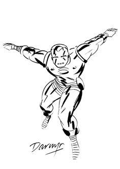 Darwyn Cooke Iron Man Comic Art