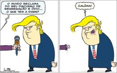 Charge do Lute sobre Donald Trump (10/11/2016). #Charge #Trump #DonaldTrump #EUA #HojeEmDia