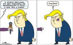 Charge do Lute sobre Donald Trump (10/11/2016). #Charge #Trump #DonaldTrump #EUA #HojeEmDia