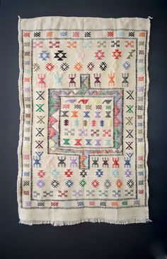 White Moroccan Rug from the 70s