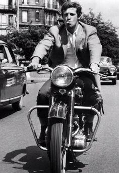 Jean Paul Belmondo: my two favourite things smokin' and riding.