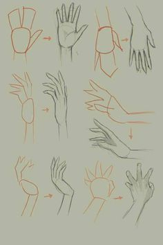 How to draw hand, basic drawing tutorial. Basic Drawing, Drawing Skills, Drawing Lessons, Drawing Techniques, Drawing Tips, Drawing Sketches, Painting & Drawing, Drawing Hands, Sketching