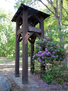 The Memorial Bell Tower in Camp Three Point at ‪#‎Yawgoog.  A 2014 image by David R. Brierley.
