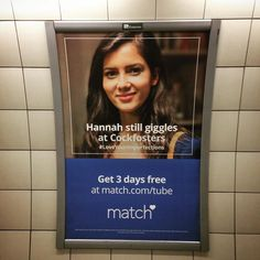 ME TOO HANNAH! ME TOO! #underground #matchdotcom #cockfosters by marzi_pam